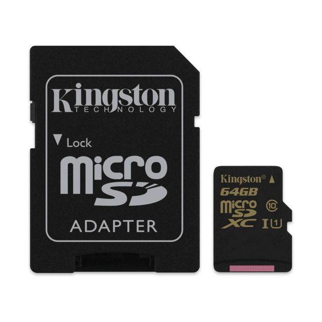 MicroSD 64GB Kingston SDCA10/64GB (sa SD adapterom)
