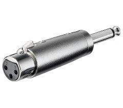Adapter XLRf - 6.3mm MOm XLR-3FJPM