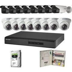 HikVision komplet 16 kamera 1Mpix