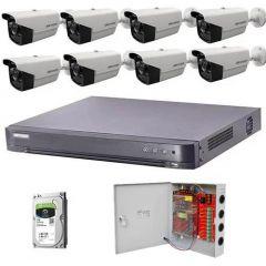 HikVision komplet 8 bullet kamera 5Mpix