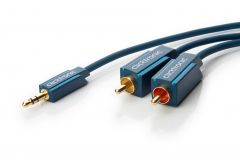 Kabl 3.5mm STm - 2x RCAm Clicktronic, 1m-5m
