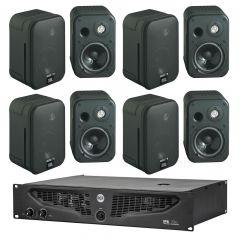 Komplet ozvučenja 8x JBL Control One zvučnici + IPS700 pojačalo