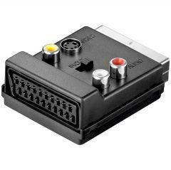 Adapter V51S SCART m - 3x RCAf+S-Video f+SCART f (sa prekidačem)