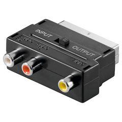 Adapter 1x SCART m - 3x RCA f V49S