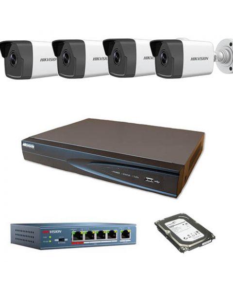 HikVision komplet 4 IP kamere 2Mpix