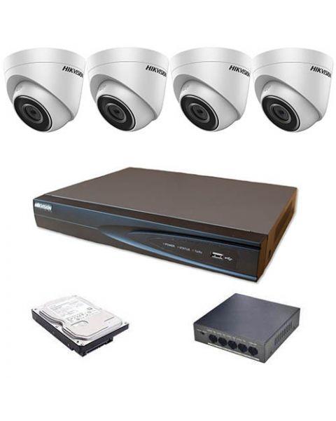 HikVision komplet 4 IP kamere 4Mpix