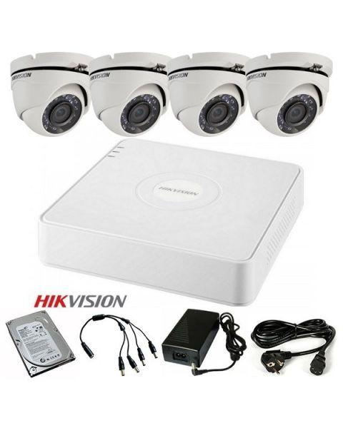 HikVision komplet HDTVI Full HD Dome 4 kamere