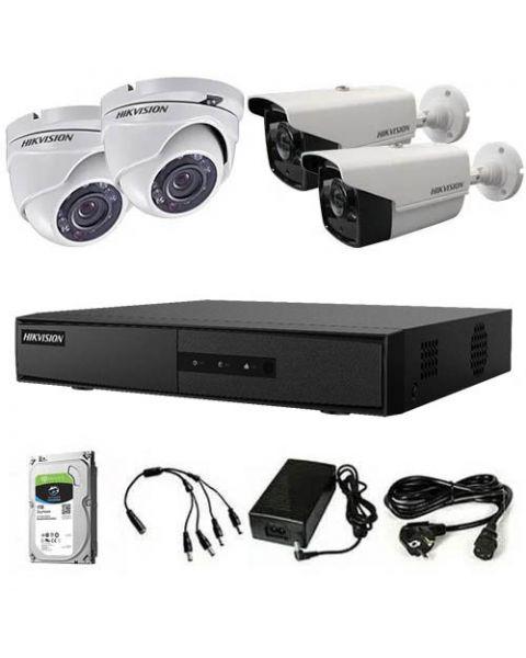HikVision HDTVI komplet 4 kamere 1Mpix