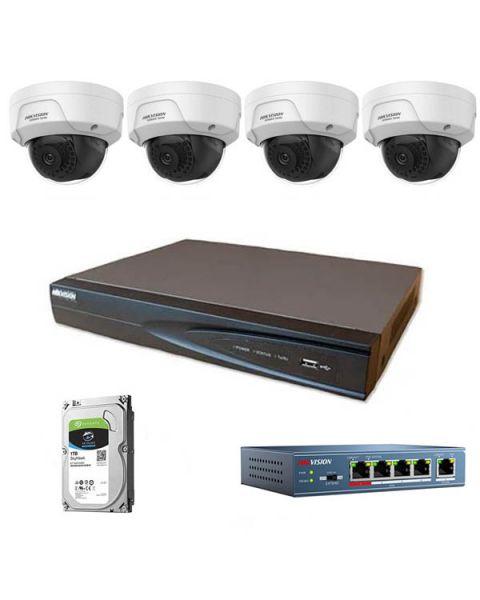 HikVision komplet 4 IP antivandal kamere 4Mpix