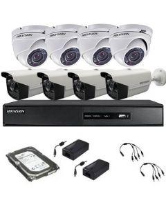HikVision HDTVI komplet 8 kamera 1Mpix