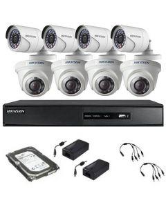 HikVision komplet 8 kamera 1Mpix