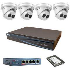 HikVision komplet 4 IP kamere 8Mpix