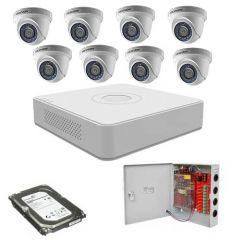 HikVision komplet 8 dome kamera 2Mpix