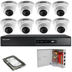 HikVision komplet 8 dome kamera 1Mpix