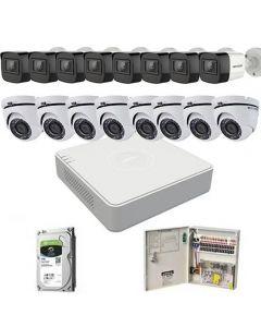 HikVision komplet 16 kamera 2Mpix