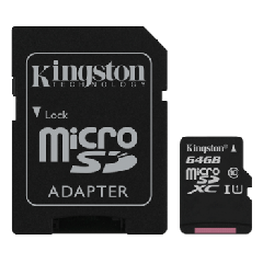 MicroSD 64GB Kingston SDC10G2 sa SD adapterom