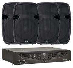Komplet ozvučenje IPS1700 pojačalo i 4x PAX40PRO zvučnici