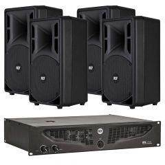 Komplet ozvučenja 4x RCF ART310 zvučnici + IPS1700 pojačalo