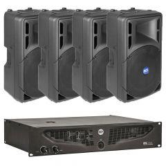 Komplet ozvučenja 4x RCF ART315 zvučnici + IPS1700 pojačalo
