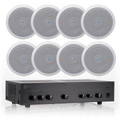 Komplet ozvučenja RCF AM 1064 pojačalo + 8x PL6X zvučnici