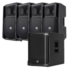 Komplet ozvučenja 4x RCF ART 735 zvučnici + SUB 705 subwoofer