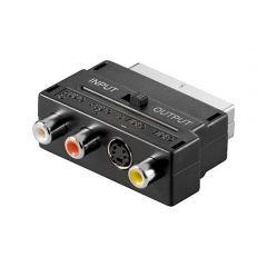 Adapter V50S SCART m - 3x RCAf+S-Video f (sa prekidačem)