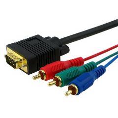 Kabl VGA m - 3x RCA m 2m