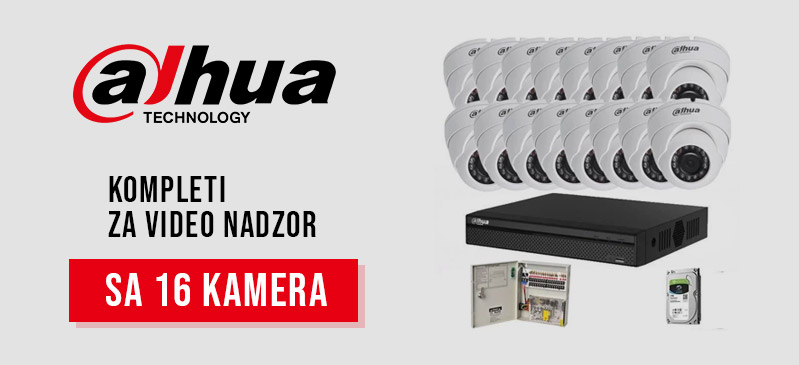 Dahua - Kompleti sa 16 kamera
