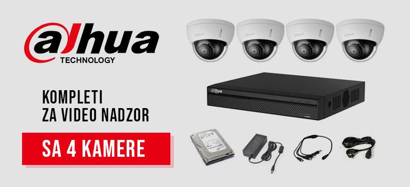 Dahua - Kompleti sa 4 kamere