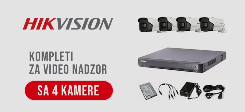 HikVision - Kompleti sa 4 kamere