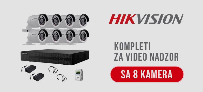 HikVision - Kompleti sa 8 kamera